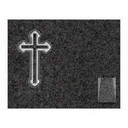 Lápida de nicho en granito Sudáfrica con cruz grabada
