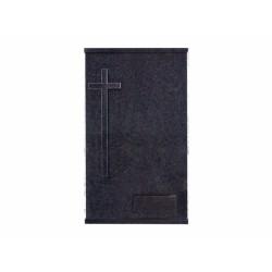 Lápida de nicho doble vertical en granito Sudáfrica con cruz de granito