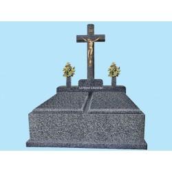 Panteón familiar doble cuerpo en granito Jaspe