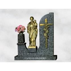 Pedestal en granito Jaspe