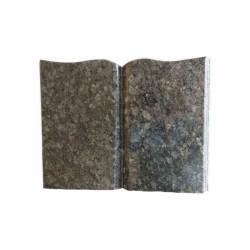 Libro de granito con forma