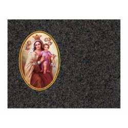 Lápida de nicho en granito Sudáfrica con imagen incrustada a color