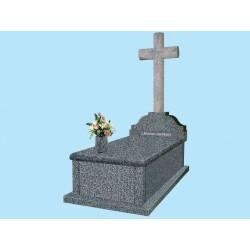 Sarcófago grada alta gruesa en granito Jaspe