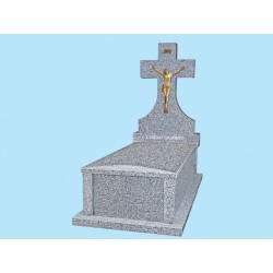 Sarcófago grada alta gruesa con tapa bombeada en granito Gris Quintana