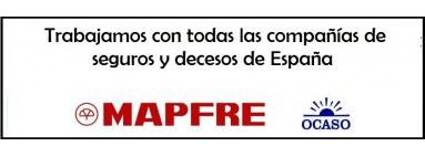 Trabajamos con todas las compañías de seguros y decesos de España